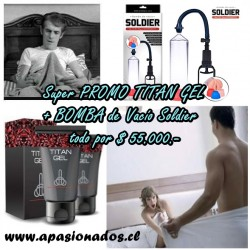AP-PROMO TITAN GEL + BOMBA DE VACIO The US SOLDIER