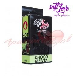 ACEITE COMESTIBLE CHOCO MENTA HOT SOFT LOVE  30ML
